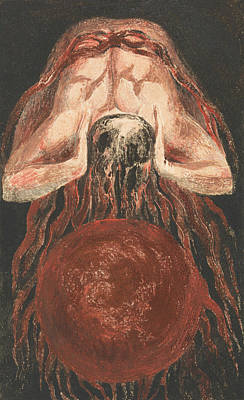 Relief - The First Book Of Urizen, Plate 16 by William Blake