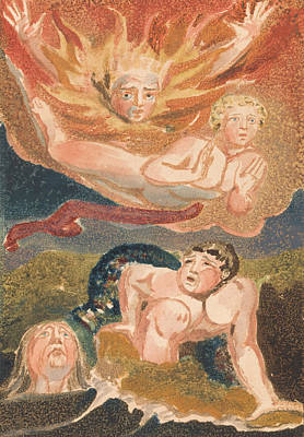 Relief - The First Book Of Urizen, Plate 22 by William Blake