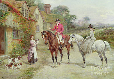 Painting - The First Break In The Family By Heywood Hardy by Heywood Hardy