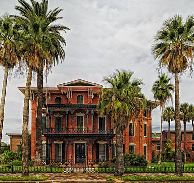 Old House Photograph - The First Brick House Of Texas - Ashton Villa Galveston by Mountain Dreams