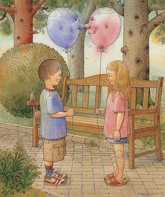 Painting - The First Date by Kestutis Kasparavicius