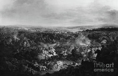 Crisis Painting - The First Day Of The Battle Of Fribourg, 3 August 1644  by Francesco Giuseppe Casanova