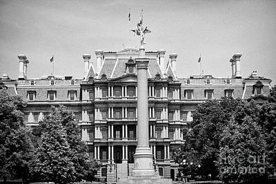 the first division monument in front of the old executive office building Washington DC USA Art Print