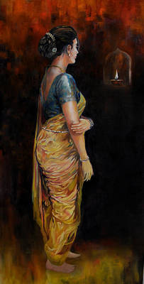 Painting - The First Diwali by Parag Pendharkar