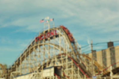 Cyclone Rollercoaster Photograph - The First Drop, Coney Island, Brooklyn by Keith Thomson