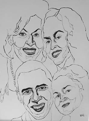 Obama Family Painting - The First Family by Michael Fields