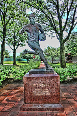 Photograph - The First Football Game Monument by Allen Beatty