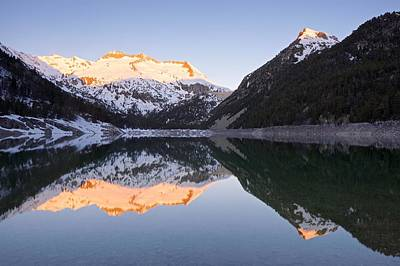 Photograph - The First Golden Light At Lac D'oredon by Stephen Taylor