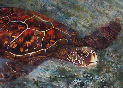 The First Honu Art Print by Kerri Ligatich