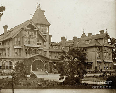 Photograph - The First Hotel Del Monte 1880 - 1887  by California Views Archives Mr Pat Hathaway Archives