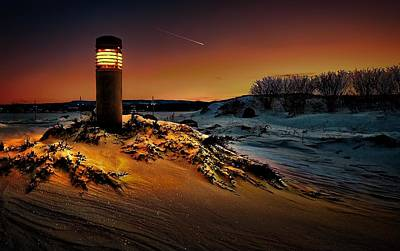 The First Light At Sunset Art Print by Jeff S PhotoArt