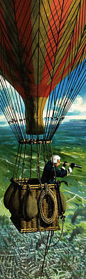 The First Military Mission From The Air Art Print