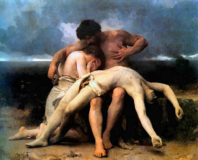 Painting - The First Mourning 1888 by William Bouguereau Presented by Joy of Life Art