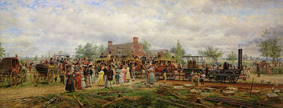 Mohawk Painting - The First Railroad Train On The Mohawk And Hudson River by Mountain Dreams