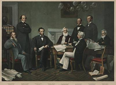 Slavery Photograph - The First Reading Of The Emancipation by Everett