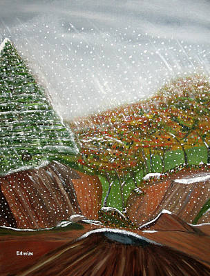 The First Snow Art Print by Edwin Long