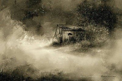 Rural Digital Art - The First Snow by Marvin Spates