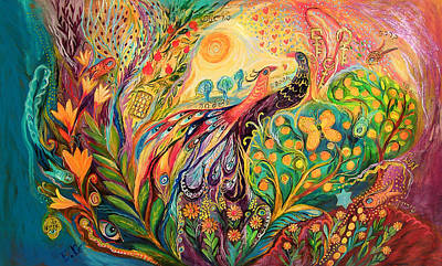 Kabbala Painting - The First Song In The Morning  by Elena Kotliarker