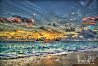 Photograph - The First Sunrise In Pastels  Lanikai Beach Oahu Hawaii Collection Art by Reid Callaway