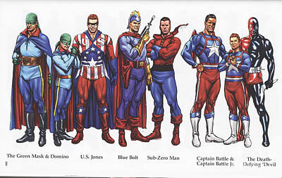 Painting - The First Super Hero Team by R Muirhead Art