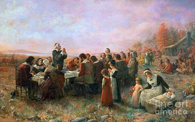 Thanksgiving Art Photograph - The First Thanksgiving by Granger