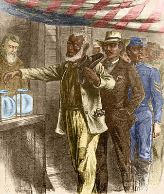 The First Vote 1867 Art Print by Photo Researchers
