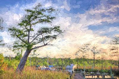 Cypress Swamp Photograph - The Fish Camp by JC Findley