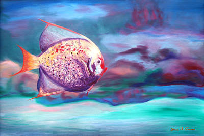 Painting - The Fish by Gina De Gorna