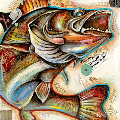 Mixed Media - The Fish by Katia Von Kral