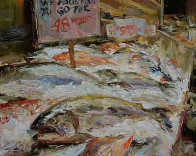 The Fish Market Art Print by James Swanson