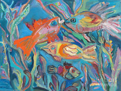 The Fish Art Print by Marlene Robbins