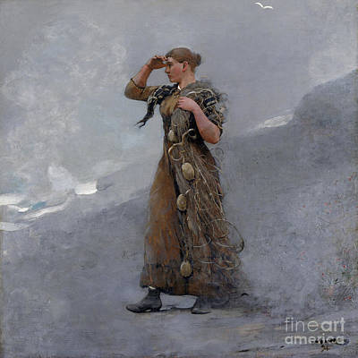 Winslow Homer Painting - The Fisher Girl by MotionAge Designs