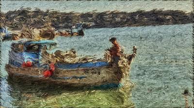 Sausalito Digital Art - The Fisherman Of Sausalito by Dev Das