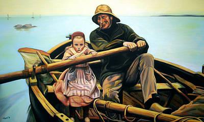 The Fisherman Art Print by Jose Roldan Rendon