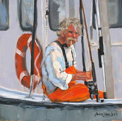 The Fisherman Art Print by Laura Lee Zanghetti