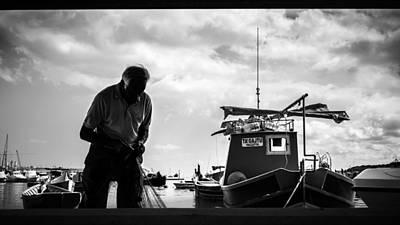 Marsaxlokk Photograph - The Fisherman - Marsaxlokk, Malta - Black And White Street Photography by Giuseppe Milo