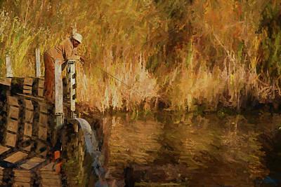 Animal Watercolors Juan Bosco - The Fisherman by Mike Penney