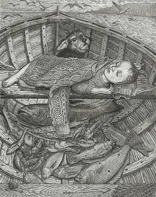Pencil Drawing Drawing - The Fisherman's Child by Fremont Thompson