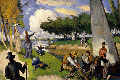 Painting - The Fishermen  by Paul Cezanne