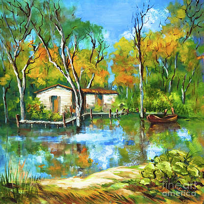 Painting - The Fishing Camp by Dianne Parks