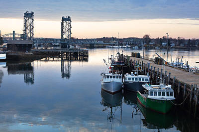 The Fishing Fleet - Portsmouth Art Print by Eric Gendron