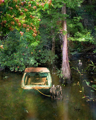 Digital Art - The Fishing Hole by Sandra Schiffner
