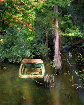 Digital Art - The Fishing Hole by Sandra Schiffner