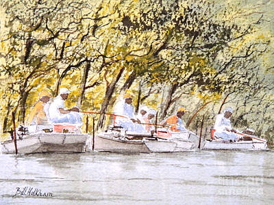 Tennessee River Painting - The Fishing Party by Bill Holkham