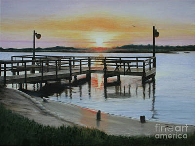 The Fishing Pier Art Print by Jimmie Bartlett