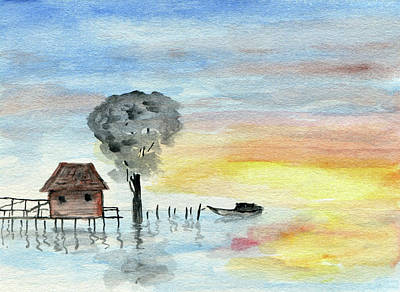 Painting - The Fishing Shack by R Kyllo