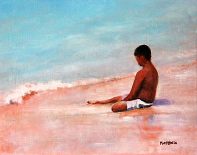 Painting - The First Wave Of Summer by Marti Green