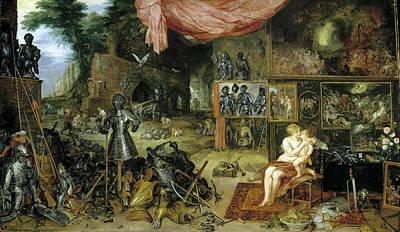 Photograph - The Five Senses Touching by Jan Brueghel the Elder