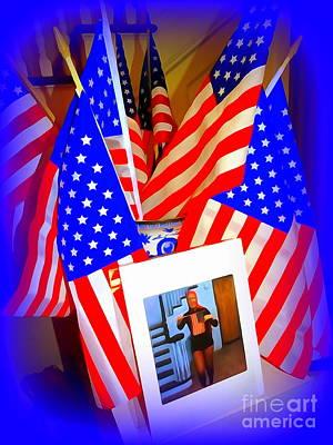 Digital Art - The Flag Dance by Ed Weidman