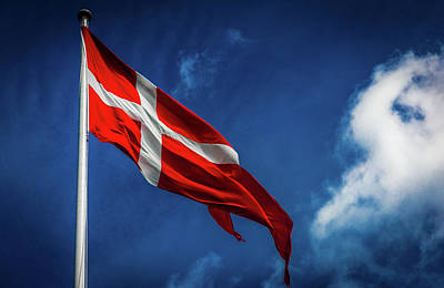 Photograph - The Flag Of Denmark by Andrew Matwijec